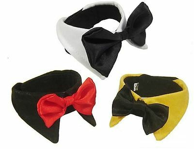 Dog Bow Tie Collar Dickie Bow Cat Pet Fashion Canines Black White Yellow Novelty