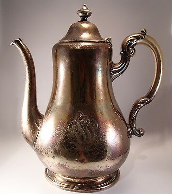 Antique Roberts & Briggs Silver Plate Water /Lemonade Pitcher 1860s Sheffield