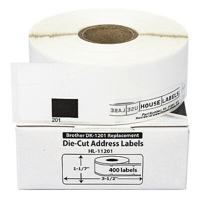 100 Rolls of DK-1201 Brother-Compatible Address Labels BPA FREE