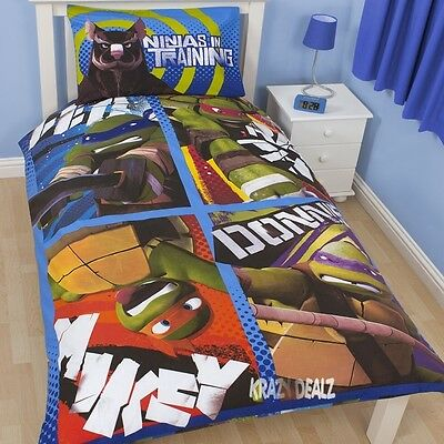 Teenage Mutant Ninja Turtles Single Panel Duvet Cover Bed Set Cowabunga Gift
