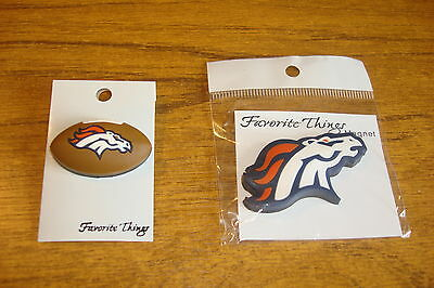 NFL pin badge & fridge magnet DENVER BRONCOS    american football
