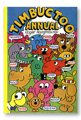 Roger Hargreaves TIMBUCTOO ANNUAL 1978 Mr Men author