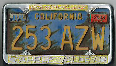 "VERY RARE Apple Valley California ""Golden Land"" Vintage City License Plate Frame"
