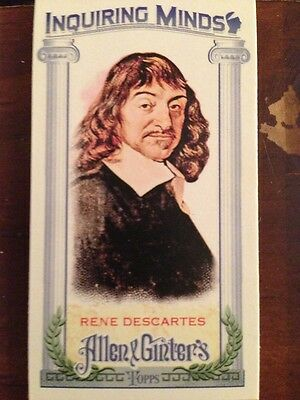 2013 Topps Allen & Ginter Inquiring Minds MINI Rene Descartes IM-RD
