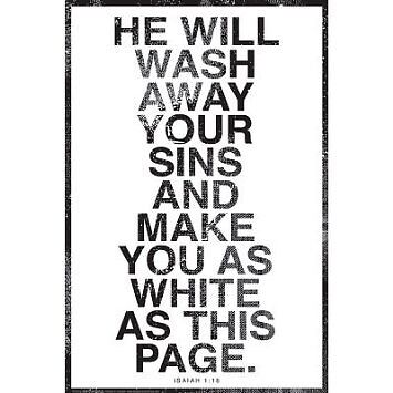 WHITE AS THIS PAGE - POSTER Christian 24x36 #118