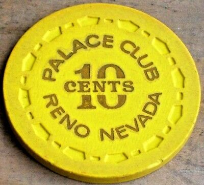.10 Vintage Fractional 11Th Edt Gaming Chip From The Palace Club Casino Reno Nv