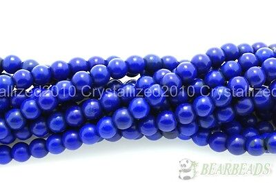 Dark Blue Howlite Turquoise Gemstone Round Beads 3mm 4mm 6mm 8mm 10mm 12mm 16""