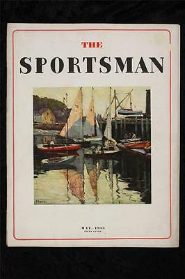 Vintage Paper Magazine The SPORTSMAN May 1933 Harbor Water Cover