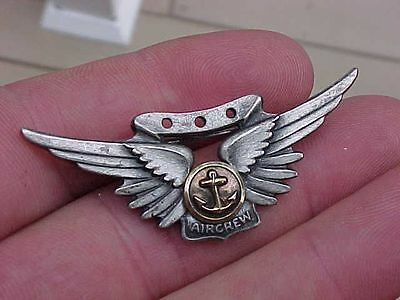 Original Wwii Usn Aircrew Wings - Sterling - Amico
