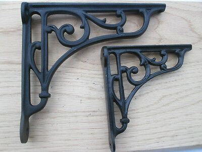 Cast Iron Victorian Scroll Shelf Support Book Sink Toilet Cistern Fancy Bracket