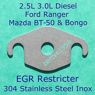 EGR Valve Restricter plate 2.5L 3.0L Mazda BT-50 WLT Ford Ranger MZR-CD Euro4