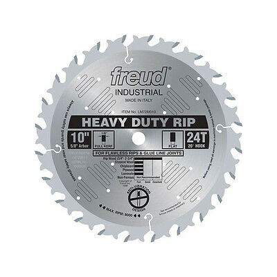 Freud LM72M010 Industrial 10-inch 24T Flat Heavy Duty Rip Ice Coated Saw Blade
