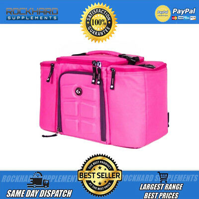 Innovator 500 6 Pack Fitness Bag Pink Big 5 Compartments Gym Training Meal