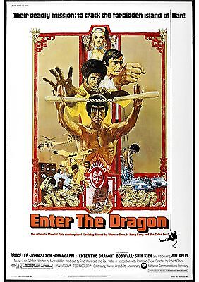 Enter The Dragon - Bruce Lee - A4 Laminated Mini Poster