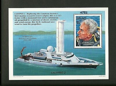 Palau 1997 Bf Calypso 2 In Memoriam Jacques Yves Costeau Mnh**