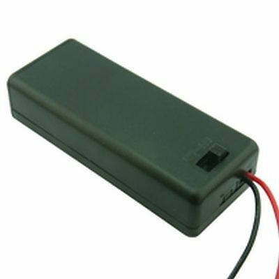 Enclosed Battery Box Holder 4 x AAA with Switch