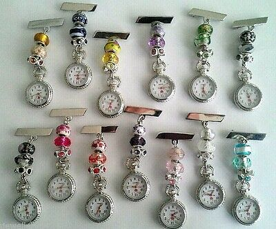 Pretty Nurses/Carers/Beauticians Beaded Fobwatch £7.99 - 14.99 Engraved