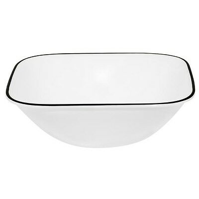 4 New Corelle Square Simple Lines Cereal Bowls 22oz