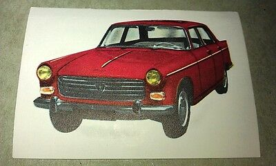 1964 PEUGEOT 404  Jacques Chocolates BELGIUM Trade Swap Card - RARE !