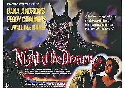 Night of the Demon (2) - Dana Andrews - A4 Laminated Mini Poster