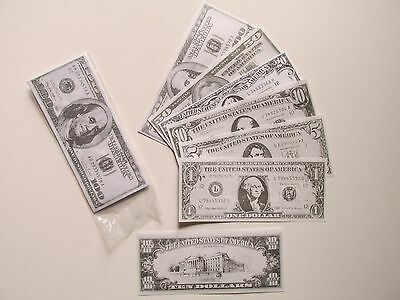2800 Pieces of Paper PLAY MONEY casino treasure chest party loot pretend play