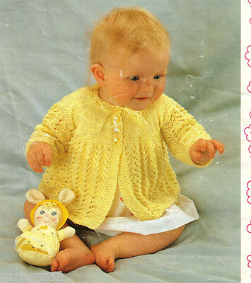 Free 4 Ply Knitting Patterns For Babies : 4 PLY BABY JACKET KNITTING PATTERN   KNITTING PATTERN