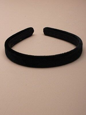 15mm Black Velvet Slim Headband School Aliceband daily thin Hair band great gift