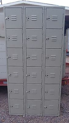 Lyon workspace Products 6-Tier 12Lx18Dx12Wx72T Steel Lockers