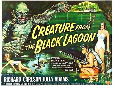 The Creature From The Black Lagoon - A4 Laminated Mini Poster