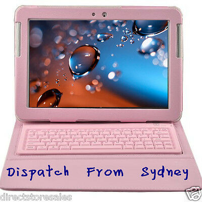 Bluetooth Keyboard for Samsung Galaxy Tab2 10.1 N8000 With Battery Case Pink