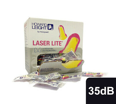 Howard Leight Laser Lite Ear plugs SNR35dB Loose or Individually Wrapped Pairs