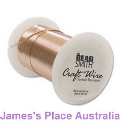 100% Copper Tarnish Resistant Craft & Jewellery making Wire - various gauges