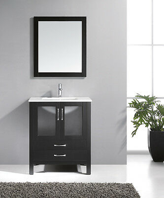Bathroom Vanities Cabinet with mirror and faucet-U30E