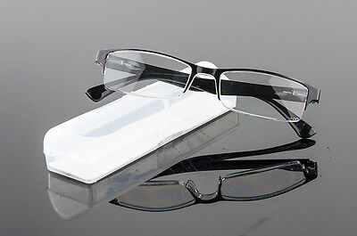 1X Designer Plastic Spring Hinge Temple Black Reading Glasses Reader +1.0 ~ 4.00