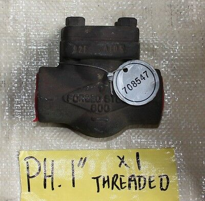 """PH 1 inch 1""""  forged steel check valve Class 800  threaded NEW"""