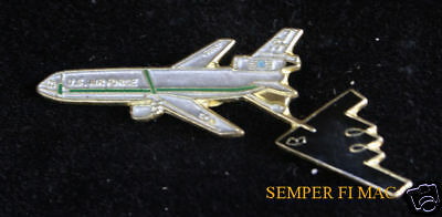 Kc-10 Extender Tanker Aerial Refueling B-2 Stealth Hat Pin Us Air Force Gift Wow