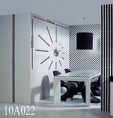 Abstract Art DIY Wall Clock  Vinyl Paper Stickers The Cool Time