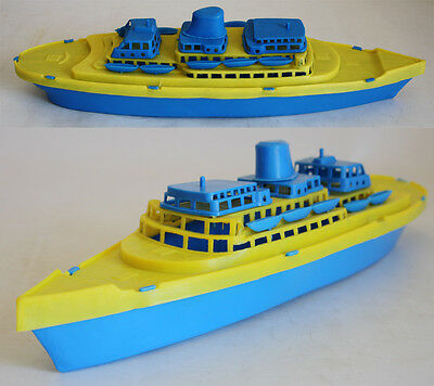 VERY RARE 70'S PLASTIC CRUISE SHIP BOAT #1 MADE IN GREECE GREEK 38cm NEW !