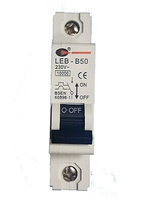 CGD Lewden Single Pole MCB'S 10KA MCB S/P 6A 10A 16A 20A 32A 40A 50A 63A B or C