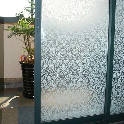 92cm x 10m Floral Flower Privacy Frosted Frosting Removable Window Glass Film