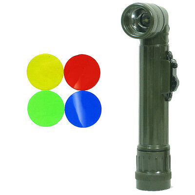 US Army OLIVE GREEN Right-Angle TL-142 TORCH Repro Small LED Flashlight Filters
