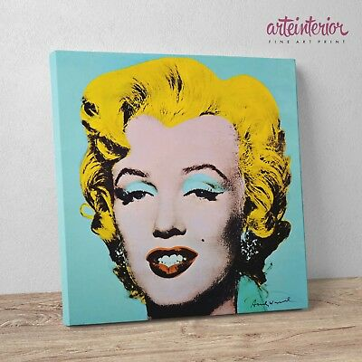 Andy Warhol - Marilyn Monroe POP-ART - Stampa Fine Art su tela Canvas Quadro