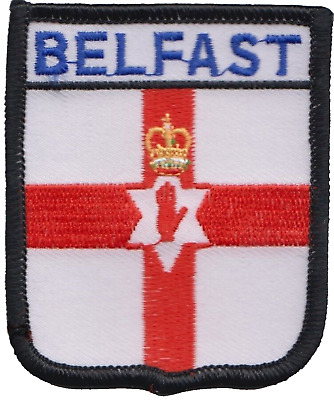 Belfast City Northern Ireland Flag Embroidered Patch Badge