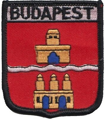 Hungary Budapest City Coat of Arms Shield Embroidered Patch Badge