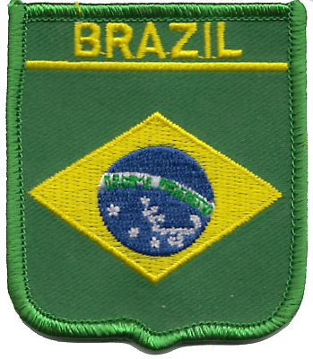 Brazil Flag Embroidered Patch Badge
