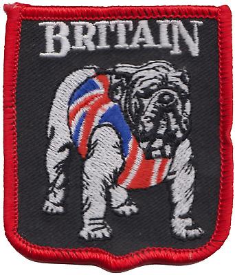 Great Britain British Bulldog Flag Embroidered Patch Badge