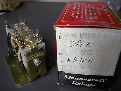 Magnecraft W88ALX-6 Relay Open/ Latch/ SPDT 24VAC New Old Stock