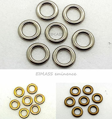 EIMASS® Hot Fix Iron on Rings Metal Studs, DIY Embellish Bags Shoes Costume