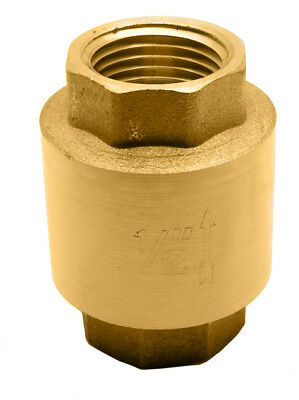 "1/2"" Brass In-Line Spring Check Valve - 200WOG"