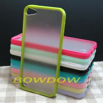 1 pcs Fashion TPU Bumper Clear Matte back Case cover for ipod touch 5